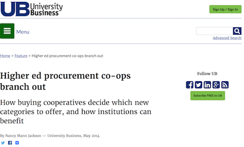 Higher Ed Procurement CoOps Branch Out