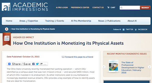 How One Institution is Monetizing its Physical Assets
