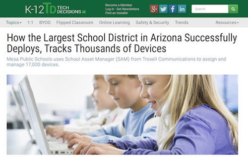 How the Largest School District in Arizona Successfully Deploys Tracks Thousands of Devices