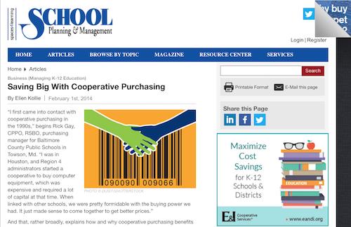 Saving Big with Cooperative Purchasing