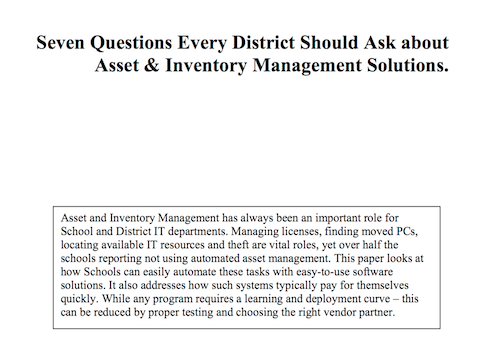Seven Questions Every District Should Ask About Asset Inventory Management Solutions