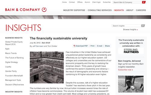 The Financially Sustainable University