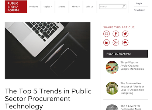The Top 5 Trends in Public Sector Procurement Technology