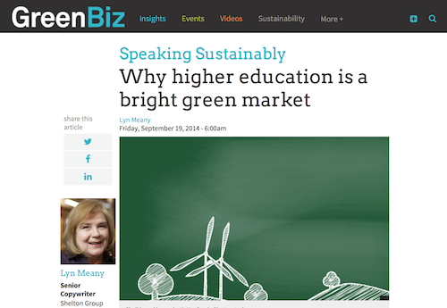 Why Higher Education is a Bright Green Market