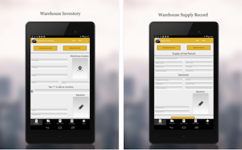 Warehouse Management 4 Tablets
