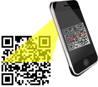 Smartphone scanning QR code is a different type of barcode format