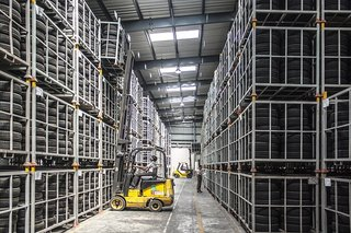 Warehouse forklift traffic