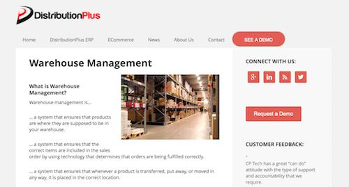 DistributionPlus Warehouse Management