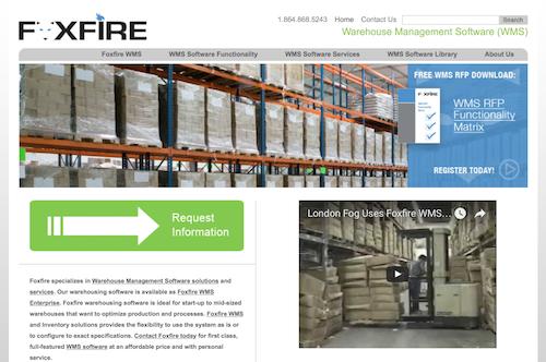 Foxfire Warehouse Management Software