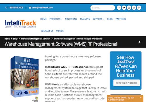 IntelliTrack WMS RF Professional