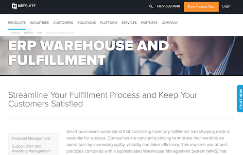 NetSuite ERP Warehouse and Fulfillment