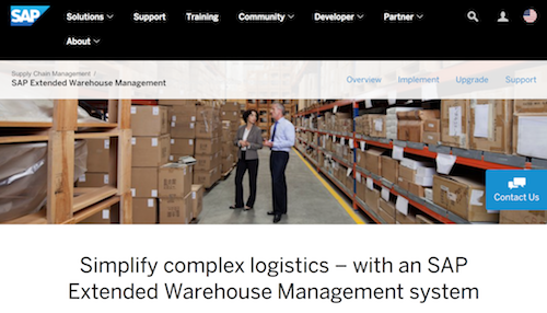 SAP Extended Warehouse Management System