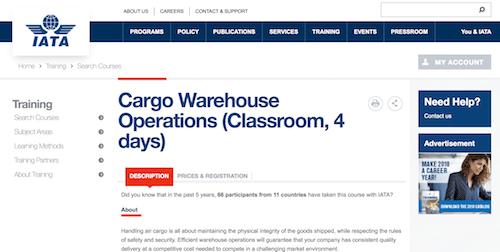 Cargo Warehouse Operations