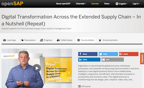 Digital Transformation Across the Extended Supply Chain - In a Nutshell