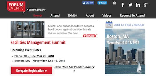 Facilities Management Summit Boston