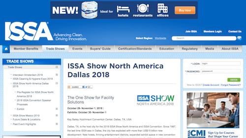 ISSA Show North America Dallas 2018