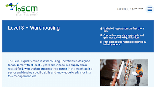 Level 3 Qualification in Warehousing Operations