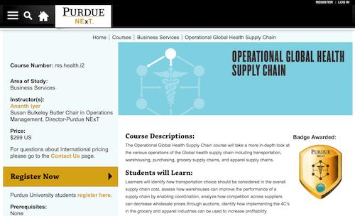 Operational Global Health Supply Chain
