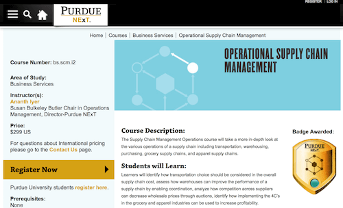 Operational Supply Chain Management