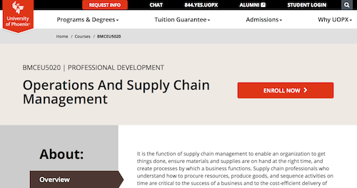 Operations and Supply Chain Management Course