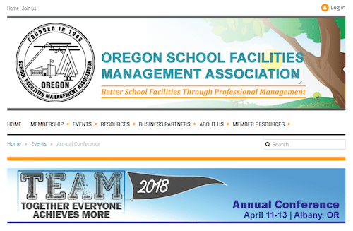 Oregon School Facilities Managemnet Association Annual Conference