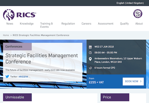 RICS Strategic Facilities Management Conference