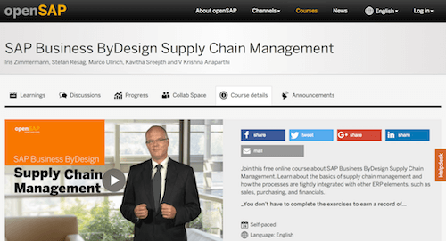 SAP Business ByDesign Supply Chain Management