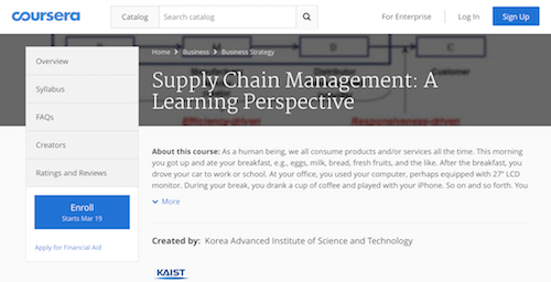 Supply Chain Management A Learning Perspective