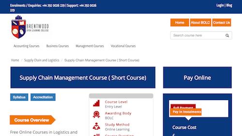 Supply Chain Management Course (Short Course)