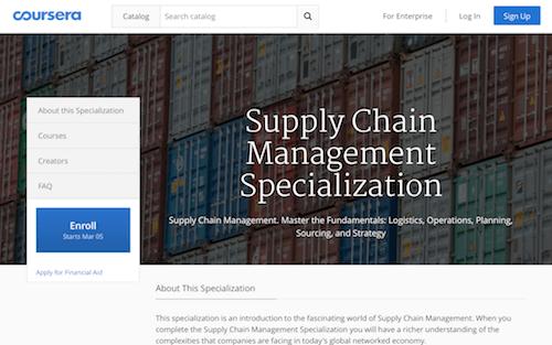 Supply Chain Management Specialization