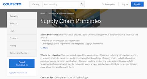 Supply Chain Principles