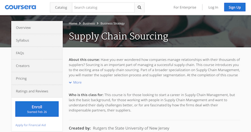 Supply Chain Sourcing