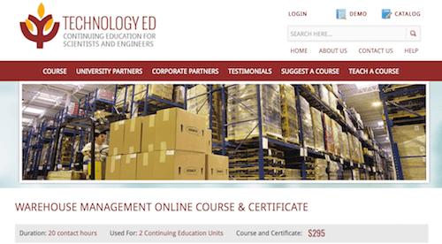 Warehouse Management Online Course & Certificate