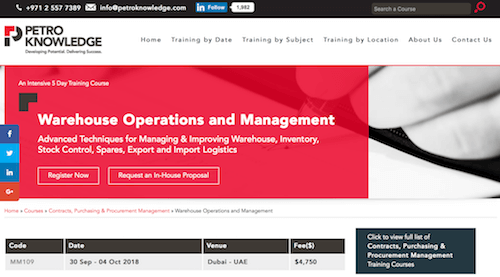 Warehouse Operations and Management Training Course