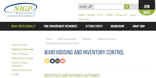 Warehousing and Inventory Control