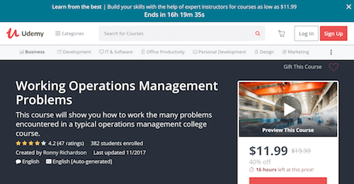 Working Operations Management Problems