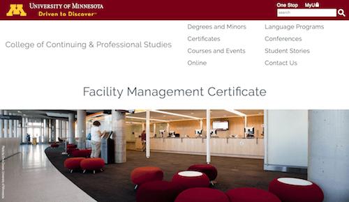 CCAPS Facility Management Certificate