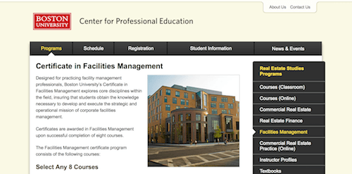 Certificate in Facilities Management