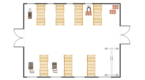 Warehouse Layout Floor Plan from ConceptDraw
