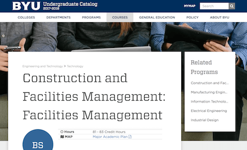 Construction and Facilities Management Facilities Management
