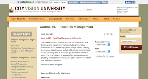 Course 307 - Facilities Management