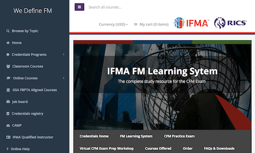FM Learning System for IFMA Credentials Programs