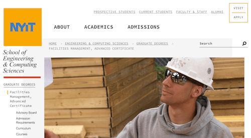 Facilities Management, Advanced Certificate