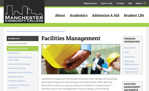 Facilities Management Degree Program