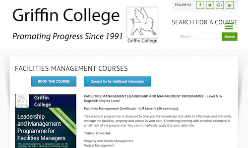 Facilities Management Leadership and Management Programme
