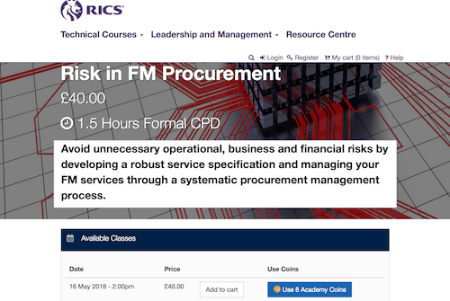 Facilities Management - Managing Risk in FM Procurement