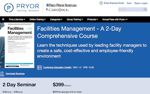 Facilities Management Training
