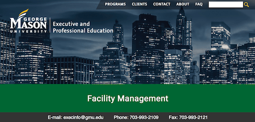 Facility Management Certificate Program