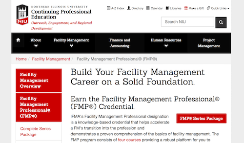 Facility Management Professional Credential