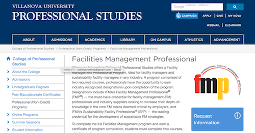 Facility Management Professional Program